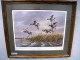 James H. Killen Rough Water Cans - MN DU 1986 Sponsor Print, Print, No. 13/3600, Signed, Framed