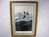 Van Gilder Marsh Mist - Ring-necked Ducks - 1988 MN DU Sponsor Print, Print, No. 13/3600