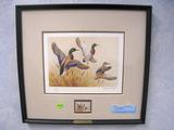 Maynard Reece Ducks Unlimited 1985 stamp design, Print, No. 4304/5300, Signed, Framed