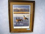 Daniel Smith Evening Trio - 1989 MN DU Sponsor Print, Print, No. 13/4000, Signed, Framed