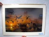 Terry Redlin Sundown - SD DU 1984 Sponsor Artist, Print, No. 776/970, Framed, Signed