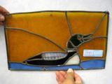 Mallard Leaded Stained Glass Panel