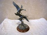 First Arrivals - Mallard Pair Pewter Statue, Alain von Holstein-Rathlou