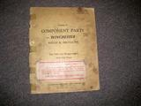 Catalog of Component Parts for Winchester Rifles & Shotguns, July 1, 1942