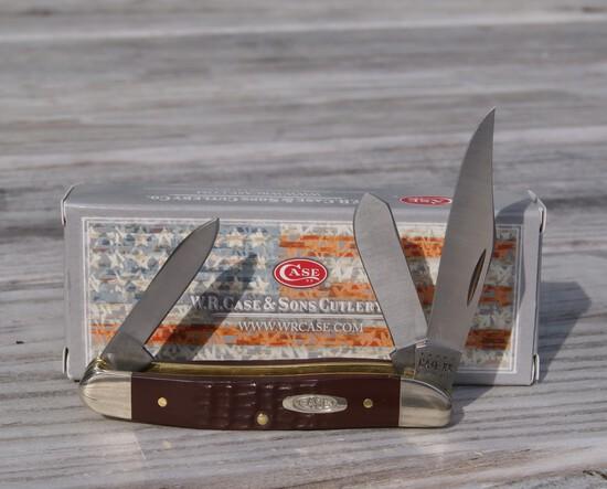 CASE XX BROWN MEDIUM STOCKMAN KNIFE NEW IN BOX