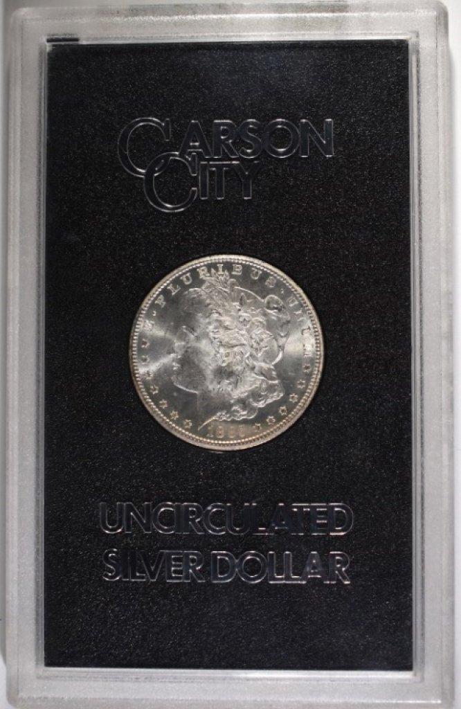 1885-CC GSA MORGAN SILVER DOLLAR CHOICE BU+