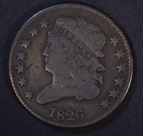 1826 CLASSIC HEAD HALF CENT VF