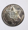 1862 TYPE-3 3-CENT SILVER, AU NICE!
