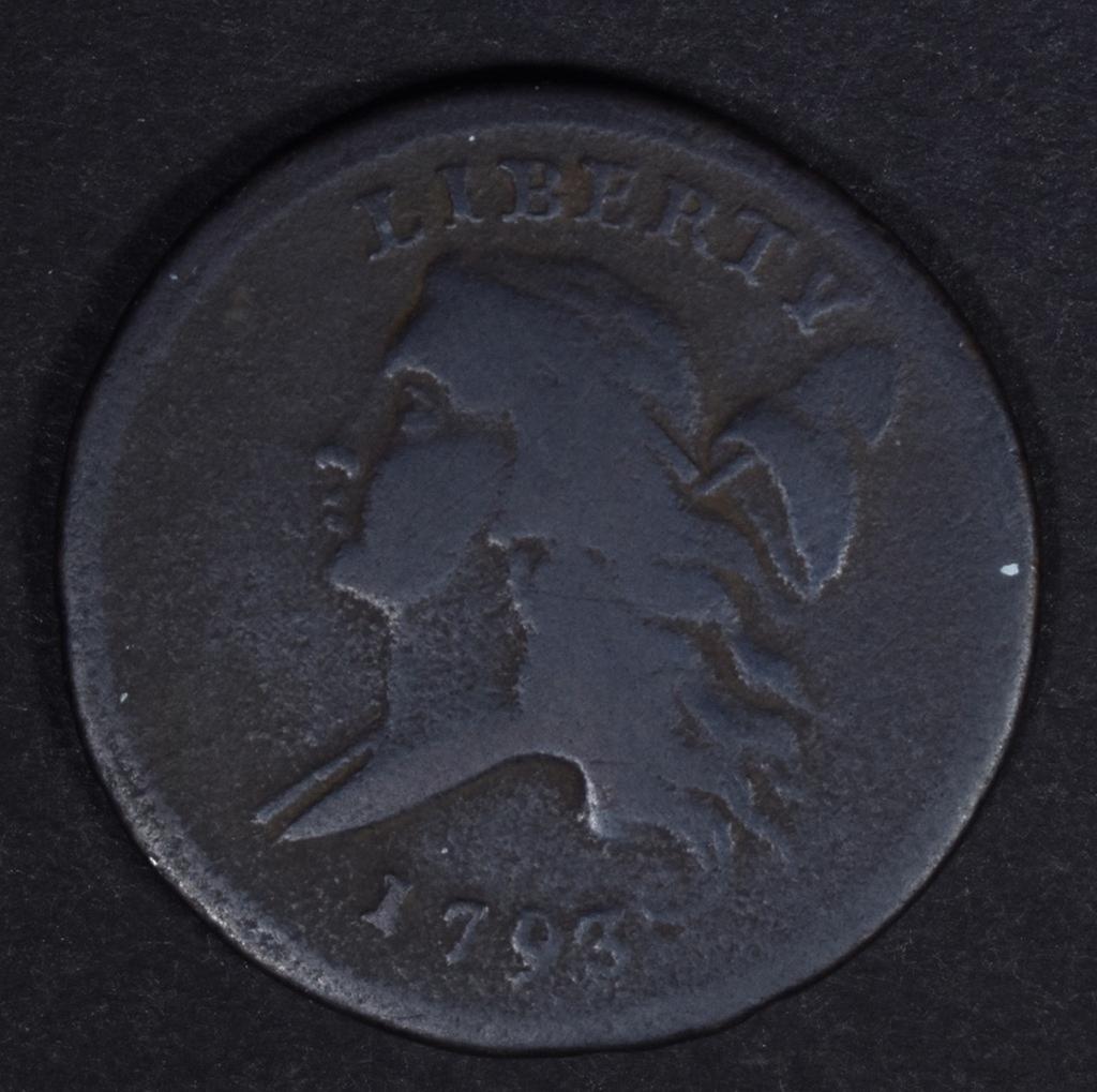 1793 HALF CENT FINE
