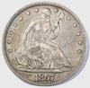 1857 SEATED LIBERTY HALF DOLLAR CHOICE XF