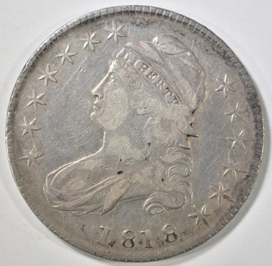 1818 BUST HALF DOLLAR VF