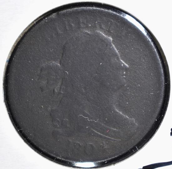 1804 HALF CENT, VG/FINE