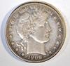 1908-D BARBER HALF DOLLAR XF