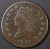 1812 LARGE CENT F/VF