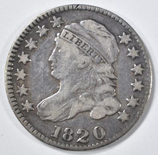 1820 BUST DIME XF