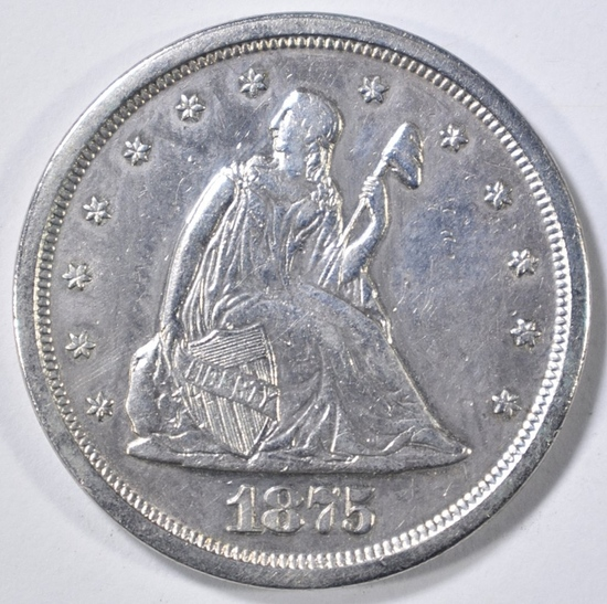 1875-S 20 CENT PIECE AU