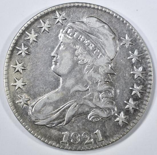 1821 BUST HALF DOLLAR XF