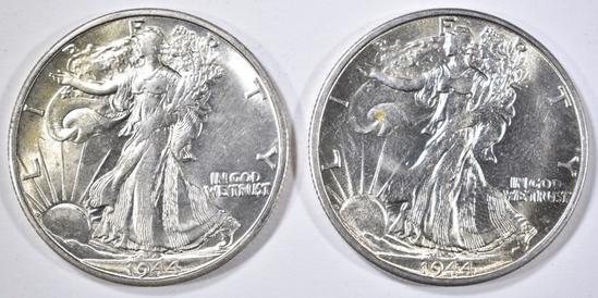 2- 1944-S WALKING LIBERTY HALF DOLLAR