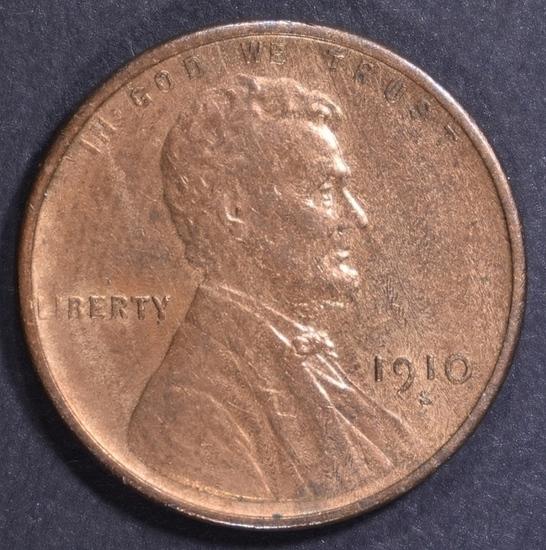 1910-S LINCOLN CENT CH AU