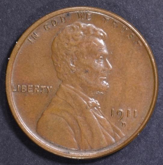 1911-D LINCOLN CENT AU