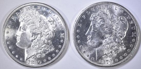 1879-S & 80-S MORGAN DOLLARS CH BU
