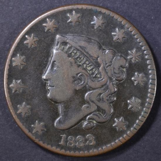 1833 LARGE CENT FINE
