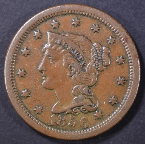 1856 UPRIGHT 5 LARGE CENT AU