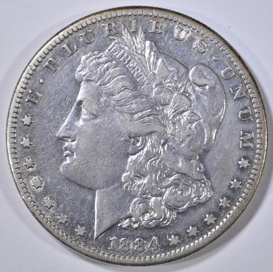 1884-S MORGAN DOLLAR XF