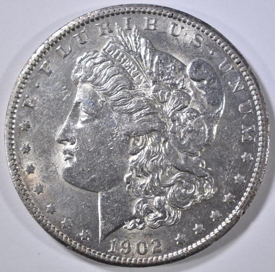1902-S MORGAN DOLLAR AU/BU