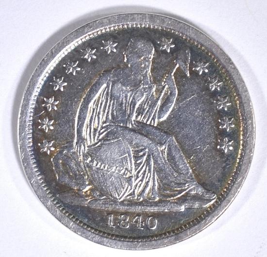 1840 SEATED LIBERTY DIME AU