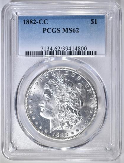 1882-CC MORGAN DOLLAR, PCGS MS-62
