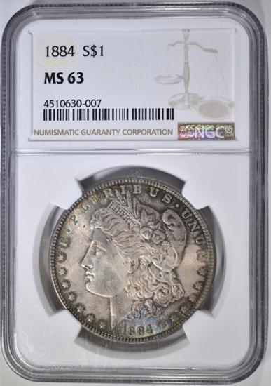 1884 MORGAN DOLLAR, NGC MS-63