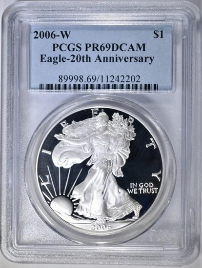 2006-W AMERICAN SILVER EAGLE PCGS  PR-69 DCAM