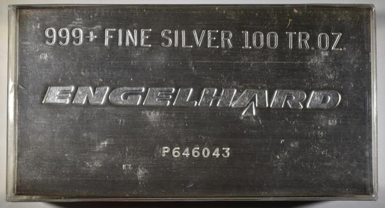 100 OUNCE .999 SILVER ENGELHARD BAR