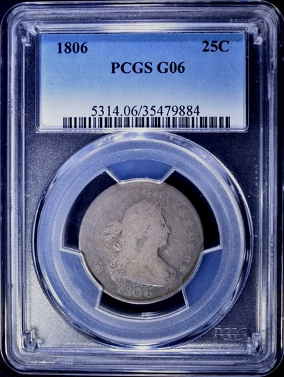 1806 BUST QUARTER, PCGS G-06