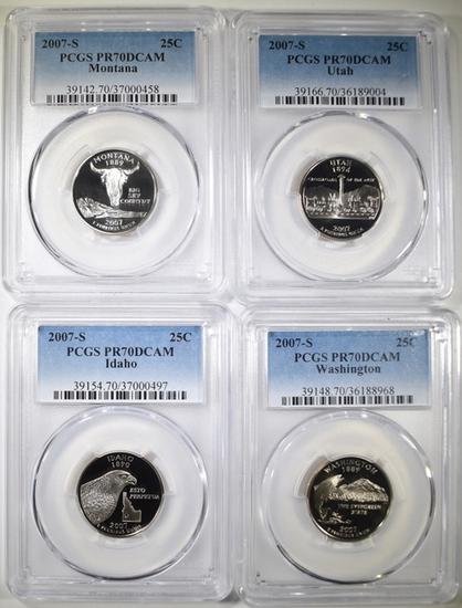 2007-S PCGS GRADED PR-70 DCAM STATE QUARTERS