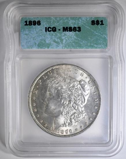 1896 MORGAN DOLLAR, ICG MS-63