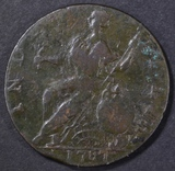 1787 CONNECTICUT HORNED BUST  VF