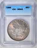 1886 MORGAN DOLLAR ICG MS-65