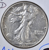 1938-D WALKING LIBERTY HALF DOLLAR  CH AU