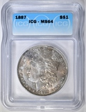 1887 MORGAN DOLLAR ICG MS-64