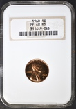 1960 LINCOLN CENT  NGC PF-68 RD