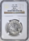 1921 ALABAMA COMMEM HALF DOLLAR  NGC MS-61