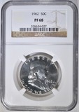 1962 FRANKLIN HALF DOLLAR  NGC PF-68