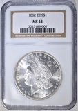 1882-CC MORGAN DOLLAR  NGC MS-65