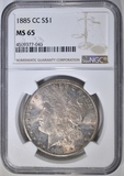 1885-CC MORGAN DOLLAR  NGC MS-65