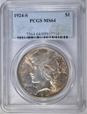 1924-S PEACE DOLLAR  PCGS MS-64