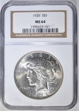 1926 PEACE DOLLAR  NGC MS-64