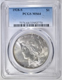 1928-S PEACE DOLLAR  PCGS MS-64