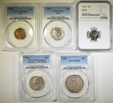 1936 PROOF SET IN GRADED HOLDERS: